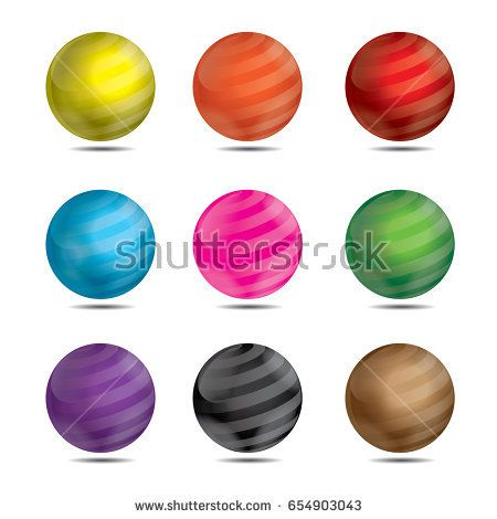 3D Glossy Ball Illustration for Match 3 game