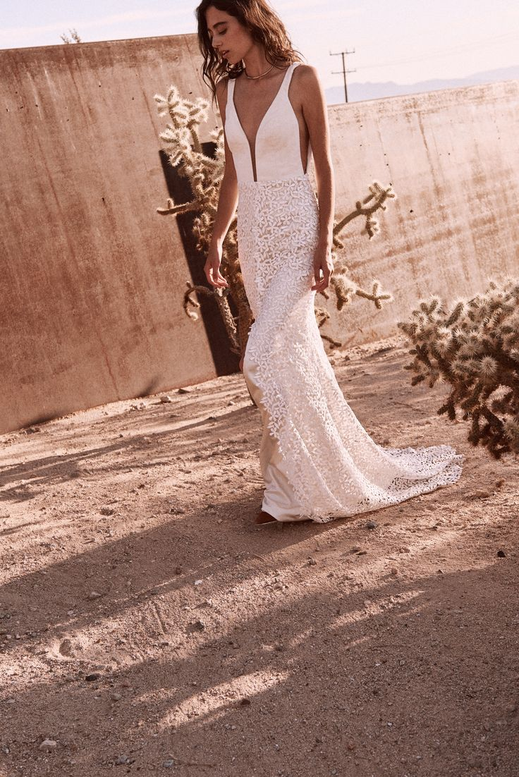 The Lupine gown by Laudae Bride