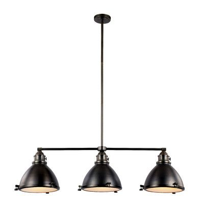 POOL TABLE LIGHT.  TransGlobe Lighting Vintage 3 Light Kitchen Island Pendant & Reviews | Wayfair
