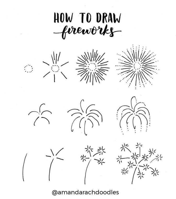 I love these fireworks doodles from @amandarachdoodles! Master doodling with 20+ in