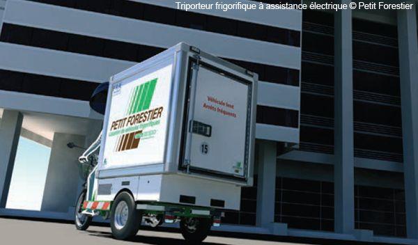 Triporteur frigorifique à assistance électrique Petit Forestier