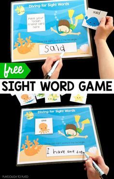 Diving for Sight Words ! A fun way to explore the ocean and practice sight words! Great for centers!