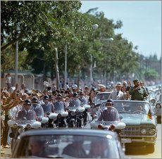Staatsbesuch Erich Honecker 1974 in Kuba / Cuba - Eskorte