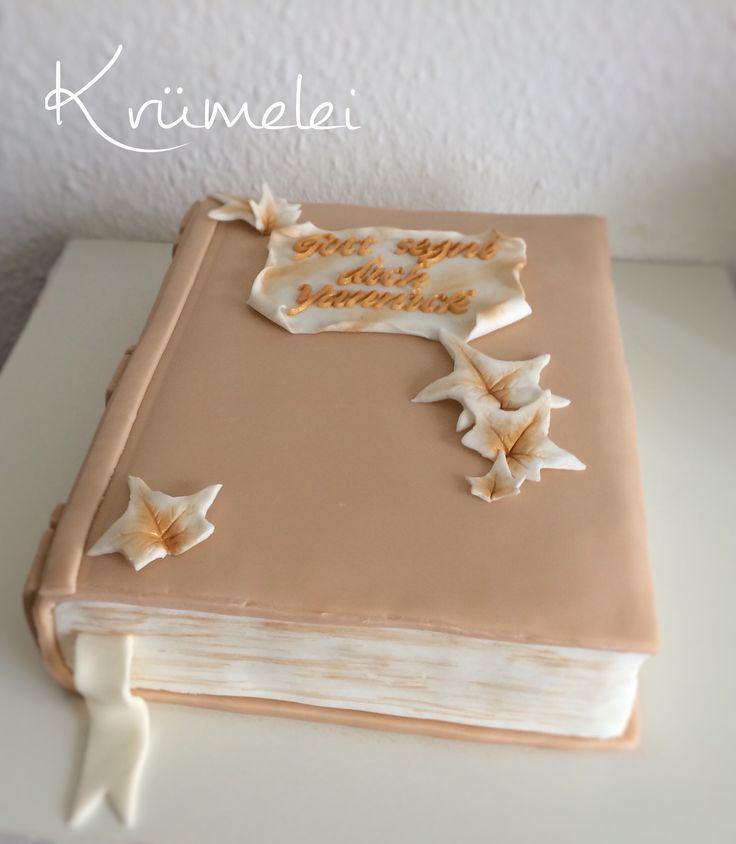 Zur Firmung eine Torte als Buch