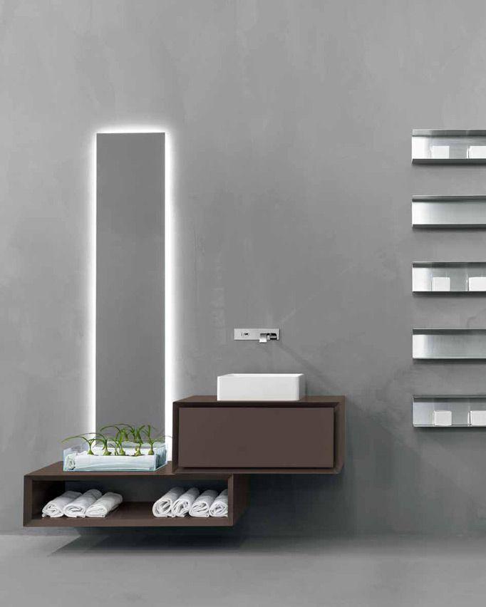 Mueble bajo lavabo lacado suspendido K.ONE | Mueble bajo lavabo simple Colección K.One by RIFRA | diseño Byoung Soo Zocchi