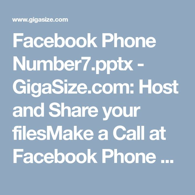Facebook Phone Number7.pptx - GigaSize.com: Host and Share your filesMake a Call at Facebook Phone Number to Remove Severe Errors 1-877-350-8878Yes, definitely you can grab essential benefits by attaining our unbelievable service at any time. All you supposed to do is just give an easy ring at our toll free helpdesk Facebook Phone Number 1-877-350-8878 which can be easily accessible from any place. So, call us right now if you really coming across a harsh time. For more visit us our website…