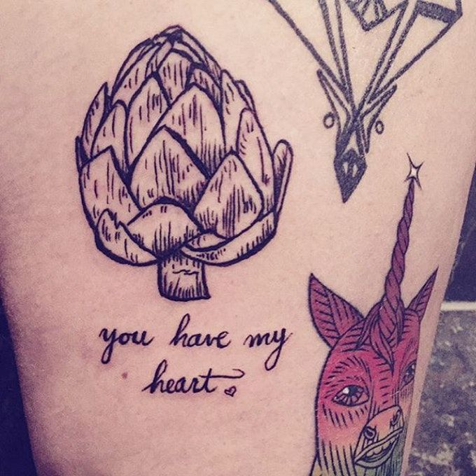 If you don't check your diet regularly these vegetable tattoos will help you do it!
