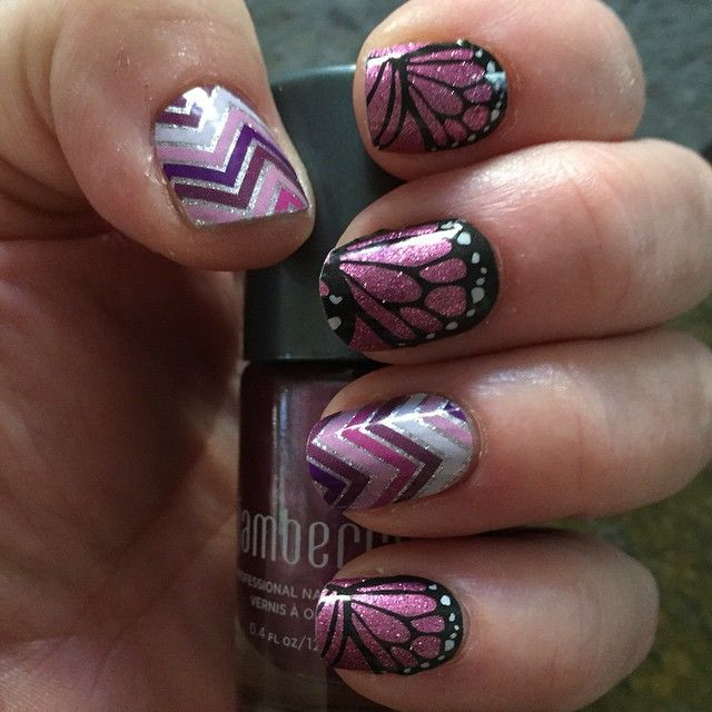 """""""happily ever after"""" by Jamberry. So many beautiful combinations. These wraps are easy to put on heat activated and lasts up to 2 weeks. Contact me at themagicofjams@yahoo.com"""