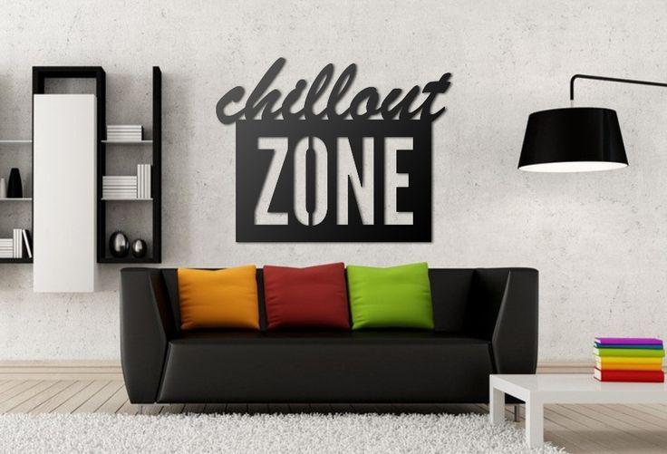 Chillout ZONE! Utwórz własną strefę chillout'u :)  Ten wzór napisu 3D można kupić już za 35zł! #napis3D #dekoracja #napisnaścianę #wnętrze