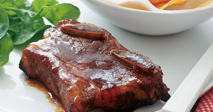 Spoil dad on Father's Day with a plate of these finger-licking beef ribs in a sweet, spicy marinade.