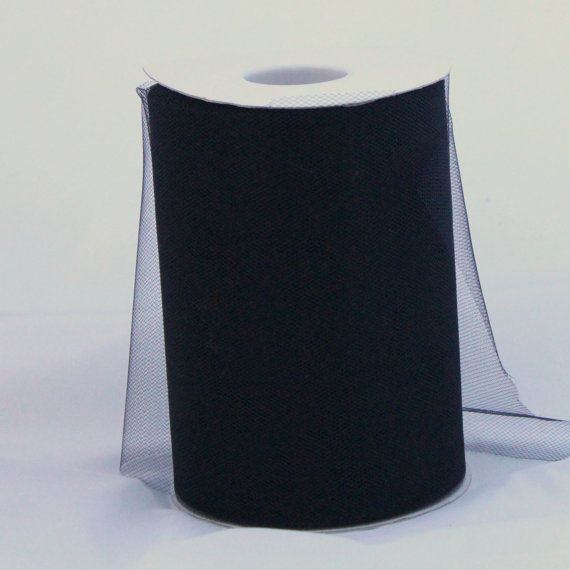 Black tulle roll  6 inches  100 yard Black rolls  tulle by BnBLLC, $5.35