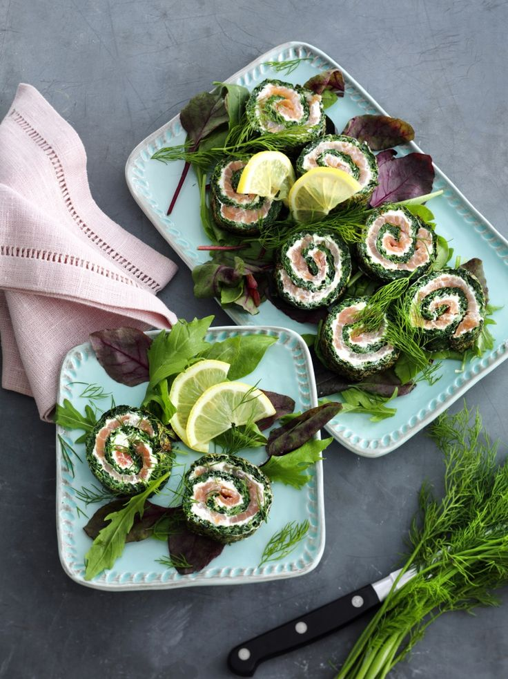 Lakseroulade med spinat - Danish salmon roll with spinach