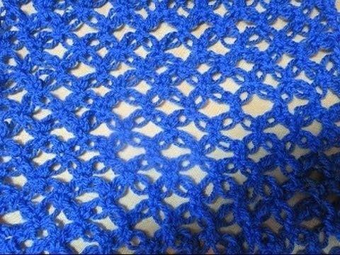Crochet Scarf Solomon's Knot easy ganchillo Punto Nudo de Salomón o Punto Espuma de Mar.