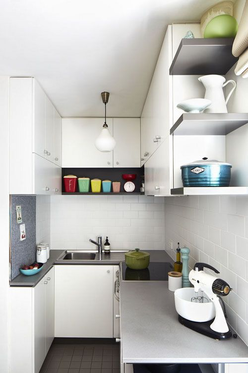 """Sneak Peek: Lisa Breeze. """"I love to cook for friends, and this teeny kitchen is capable of producing big things. With an efficient layout and contemporary fittings, clever storage and an organized cook, anything can happen (even better when friends stick around to do your washing up!)."""" #sneakpeek"""