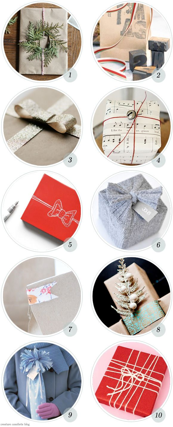 Holiday Roundup: 20 Great Gift Wrapping Ideas - Home - Creature Comforts -