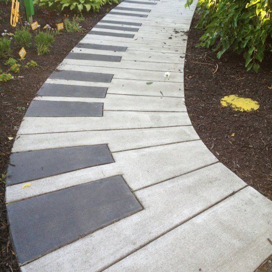 25 best ideas about concrete garden edging on pinterest for Cement garden paths