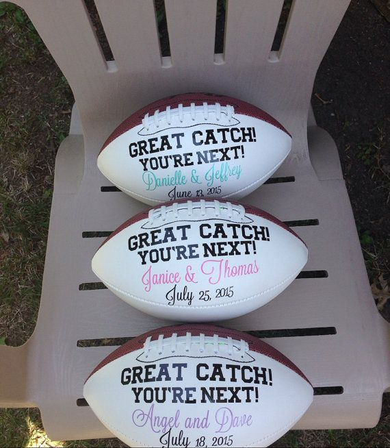 Football Garter Toss Personalized with Bride and by AbFabPaperie
