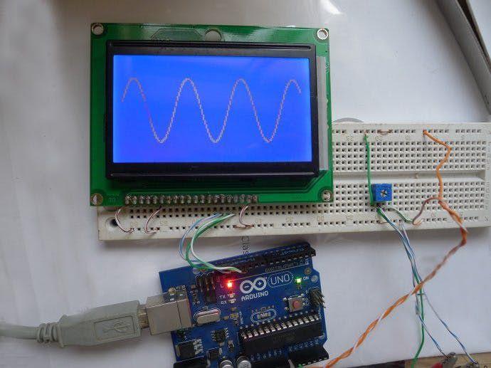 Digital Oscilloscope Experiment Based On Arduino Hackster Io Arduino Arduino Projects Arduino Display