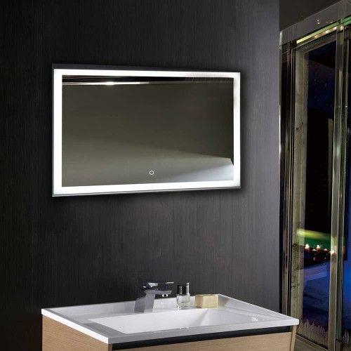 Horizontal LED Lighted Bathroom Silvered Mirror