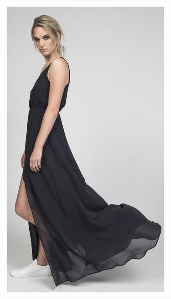 annabelle split dress (silk georgette)