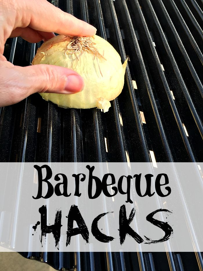 Top 10 Barbeque Hacks * The Typical Mom --- Rub an onion on your grill to make it non stick :)