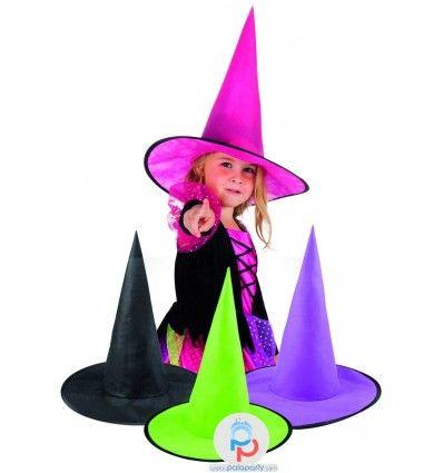 Cappello strega per festa Halloween da bambina in 4 colori. Su PalaParty trovi online tanti prodotti per festa Halloween, compleanni, eventi e molto altro!