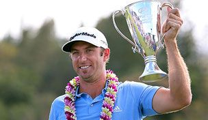 January 9, 2013    It's over. Finally. Dustin Johnson shot 68 Tuesday at Kapalua to claim his seventh Tour title at the Hyundai TOC.  the wind was really bad there