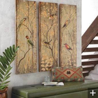 Calima Bird Triptych