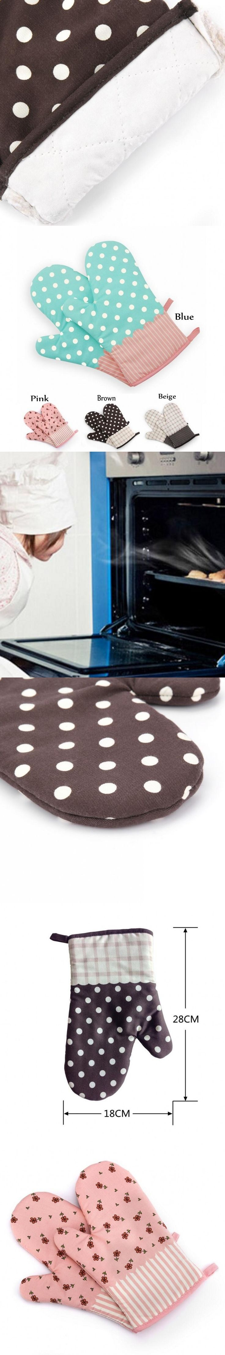 Creative Home Baked Essential Fashion  Gloves Multifunctional Cotton For Microwave Oven Barbecue Heat insulated Gloves