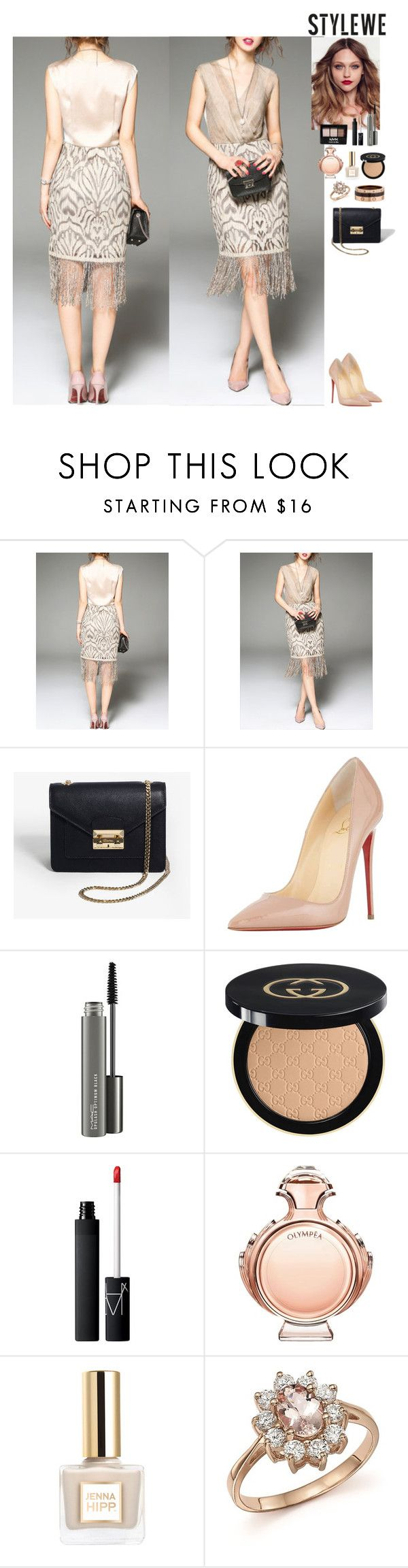 Event StyleWe by eliza-redkina on Polyvore featuring мода, Christian Louboutin, Cartier, Bloomingdale's, Gucci, NARS Cosmetics, MAC Cosmetics, Paco Rabanne and NYX