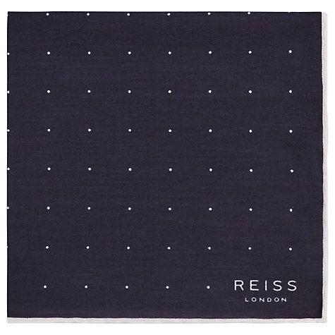 Buy Reiss Higgs Silk Polka Dot Pocket Square Online at johnlewis.com