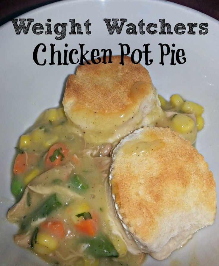 Weight Watchers Chicken Pot Pie Recipe #weightwatchers #potpie #chicken