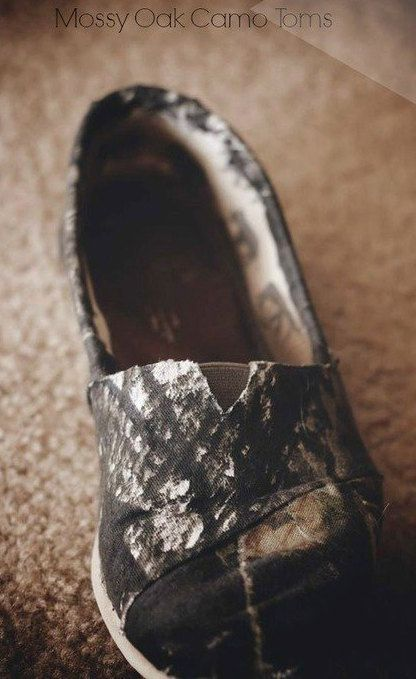 Mossy Oak Camo Toms by ShopTheMilkBrigade on Etsy, $75.00