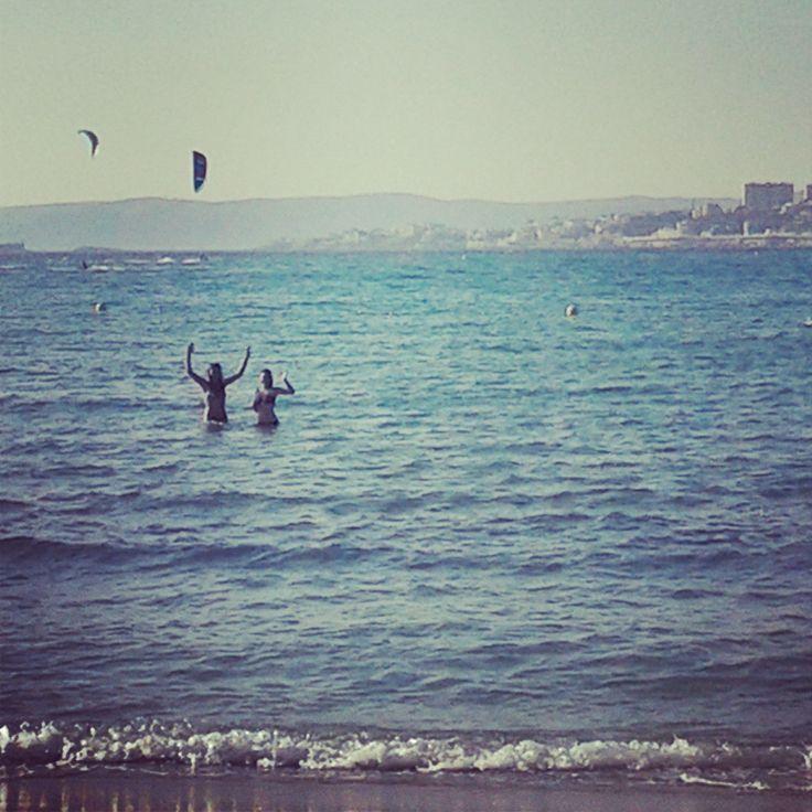 Le soleil, la mer et les vagues :)