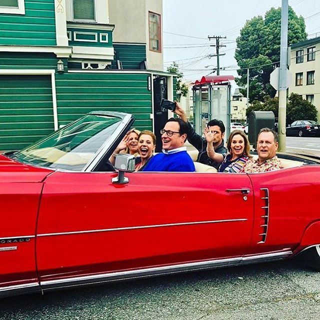 Fuller House Cast In Convertible
