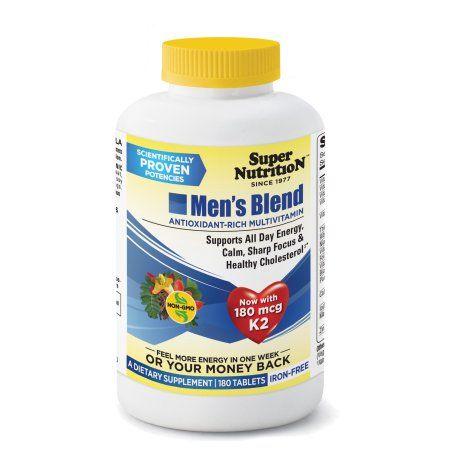 SuperNutrition Men?s Blend Iron-Free Multivitamin Tablets, 180 Ct
