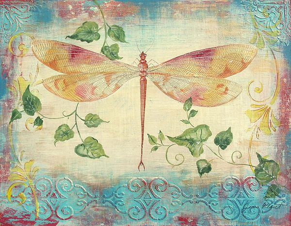 New Print Available! - 'Aqua Dragonfly' - http://fineartamerica.com/featured/aqua-dragonfly-jean-plout.html via @fineartamerica