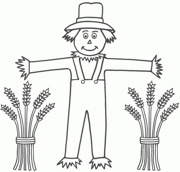 scarcrow color sheet | Free Printable Scarecrow Coloring Pages For Kids