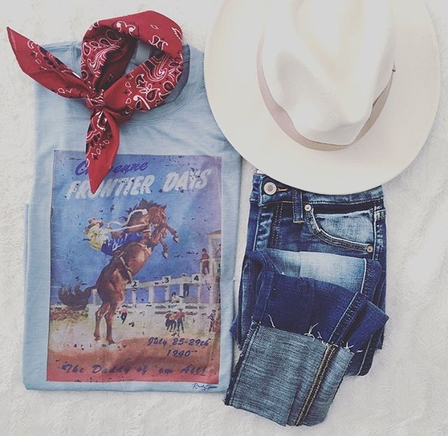 So Tip Your Hat To The Cowboy Every Once In A While And Take Time To Remember That Cowboy S Smi Cute Country Outfits Graphic Tee Style Cheyenne Frontier Days