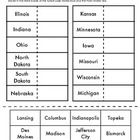 This is a cut and paste activity to help students with their states and capitals for the Midwest Region. They have to correctly match up the pairs ...