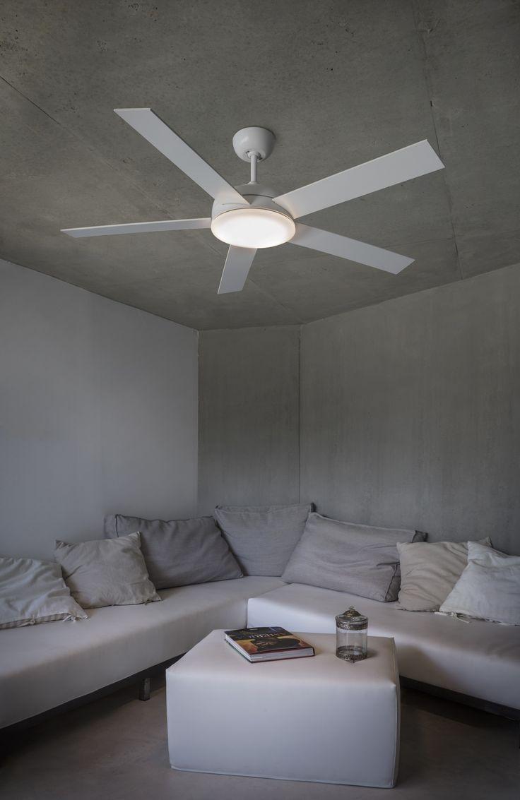 NOVA ventilador de techo blanco con luz