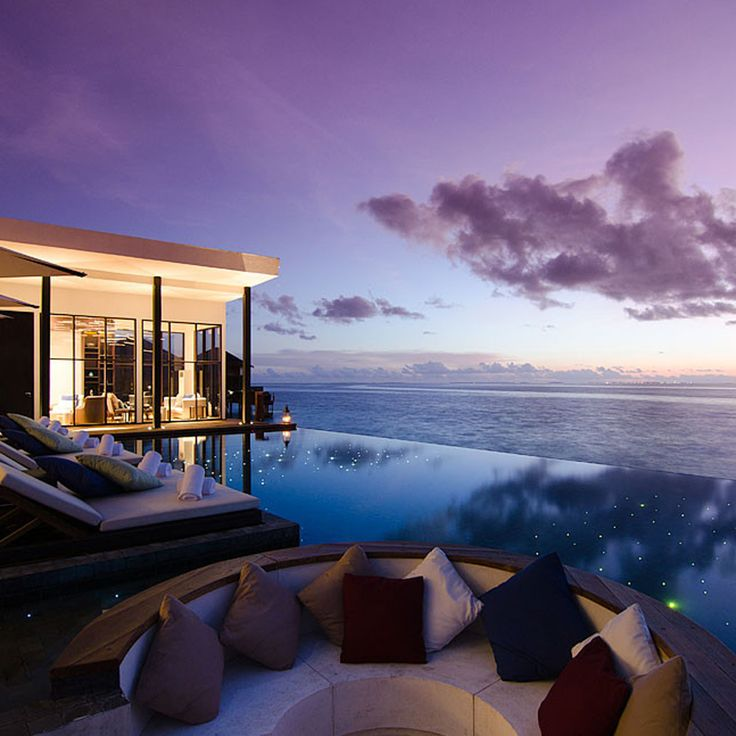 Jumeirah Dhevanafushi, Maldives is one of the countries smallest resorts with just 37 villas. Guests can watch marine life flit past while face down on the massage beds. More winter sun holiday inspiration here: http://www.harpersbazaar.co.uk/travel/travel-guides/news/g32564/where-to-go-for-winter-sun/