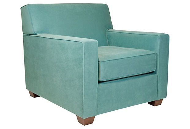 Love the classic shape of this arm chair.: Living Rooms, One King Lane, Blue Green, Club Chairs, Blue Chairs, Teal Chairs, Reading Rooms, Accent Chairs, Grafton Chairs