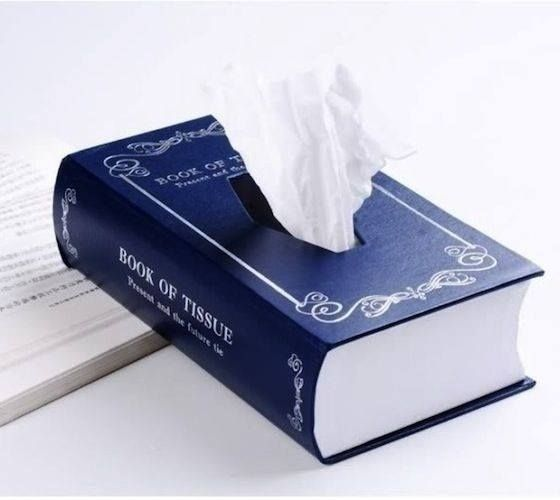 Book of Tissue is decidedly cuter than a cardboard Kleenex box | 30 Totally Unique Ways To Decorate Your Home With Books