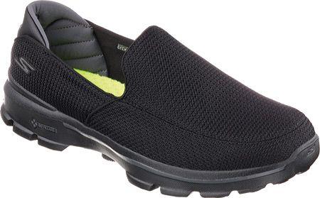 Skechers Mens Go Walk 3 Slip-on 53980-BBK,    #Skechers,    #53980BBK,    #AthleticShoes