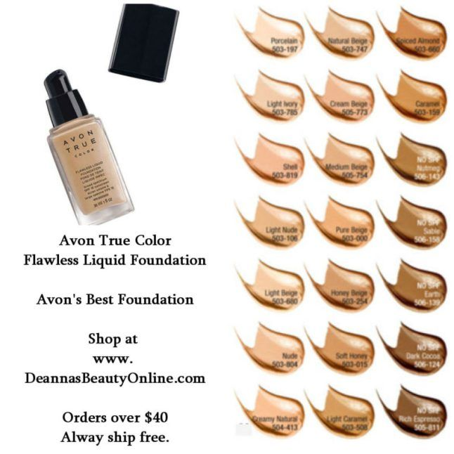 Avon True Color Flawless Liquid Foundation Full Coverage That Looks And Feels 100 Natural Makeup Foundation Liquid Foundation Avon True Paraben Free Makeup
