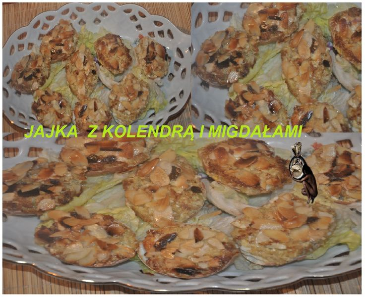 jajka z kolendra i migdalami