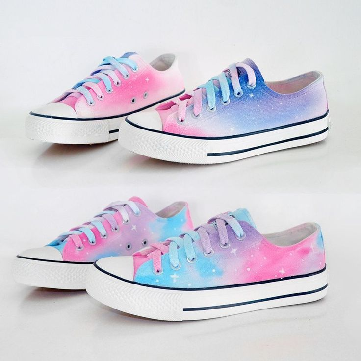 """Harajuku galaxy gradient hand-painted shoes SE8798""""Coupon code """"Fatma""""for 10% off"""" Invite"""