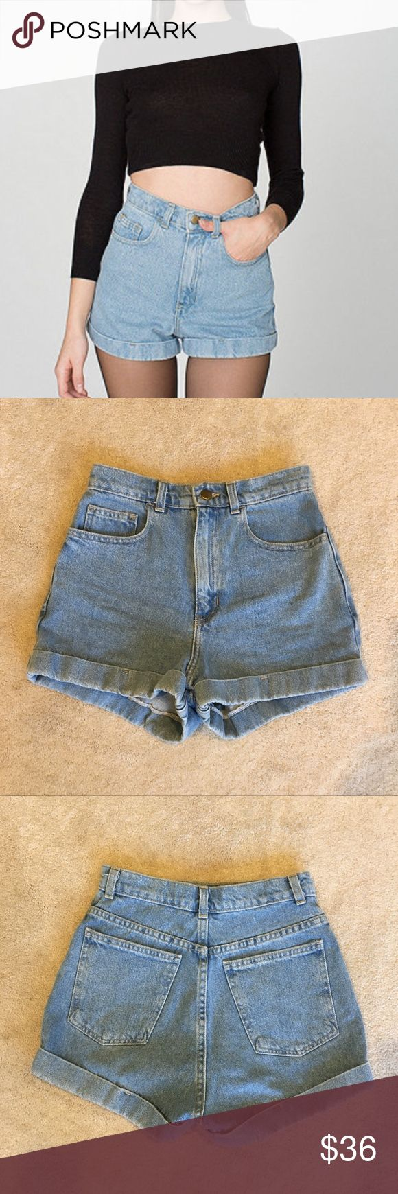 NEW American Apparel High Wasted Jean Shorts These BRAND NEW high wasted jeans have never been used and are in perfect condition. Please contact with any questions you might have or if you would like additional photos! American Apparel Shorts Jean Shorts