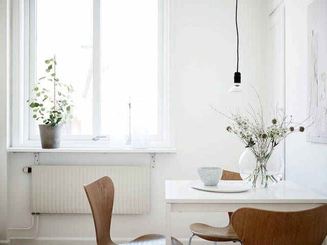 Rocking the 'greige' in a Swedish apartment